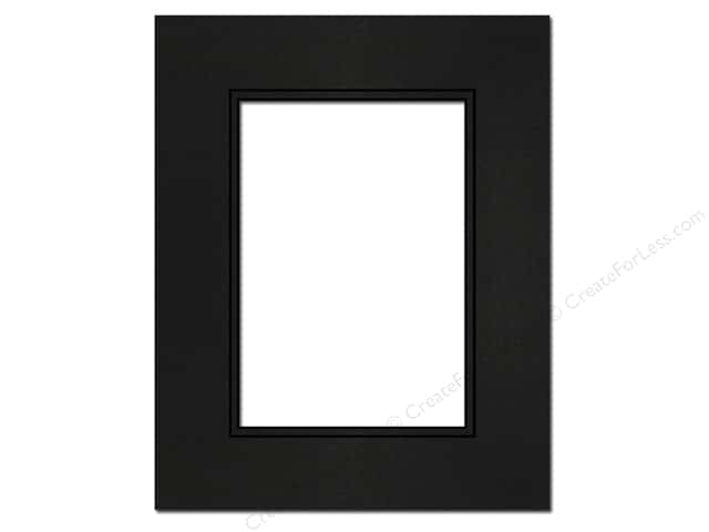 Pre-cut Double Photo Mat Board Black Core 8 x 10 in. Black/Black ...