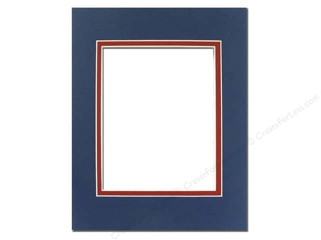 Pre-cut Double Photo Mat Board Cream Core 16 x 20 in. Bottle Blue ...