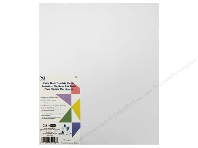 EZ Quilting Template Plastic 12 x 18 in. Extra Thick -- CreateForLess : template plastic for quilting - Adamdwight.com