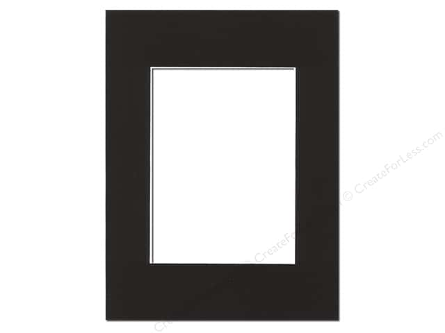 Pre-cut Photo Mat Board White Core 9 x 12 in. Black -- CreateForLess