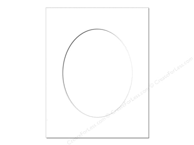 Pre Cut Oval Photo Mat Board White Core 11 X 14 In White