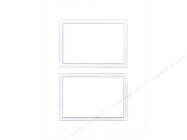Pre-cut Double Photo Mat Board by Accent Design White Core 8 x 10 in ...