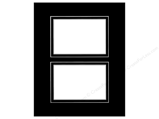 Pre-cut Double Photo Mat Board Design Wh Core 8 x 10 in. 2 Openings ...