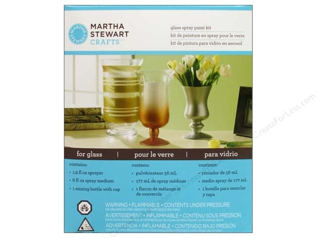 Martha stewart glass spray paint kit by plaid createforless for Martha stewart crafts spray paint kit