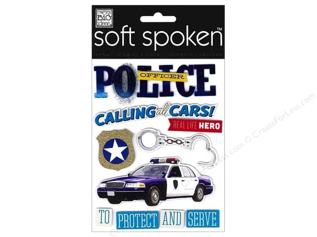MAMBI Soft Spoken Stickers Police Officer -- CreateForLess on police food ideas, police painting ideas, police makeup ideas, police bedroom ideas, police costume ideas, neon ideas, police gifts ideas, police signs ideas, police office ideas, police design ideas, police blue,