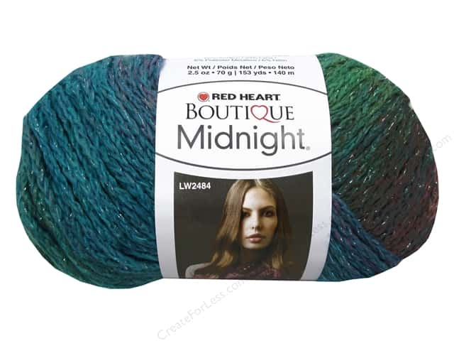 Knitting Patterns For Red Heart Boutique Midnight : Red Heart Boutique Midnight Yarn #1951Tropical 153 yd ...