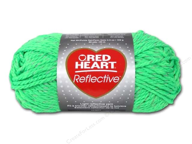 Knitting Patterns For Red Heart Reflective Yarn : Red Heart Reflective Yarn #8671 Neon Green 88 yd ...