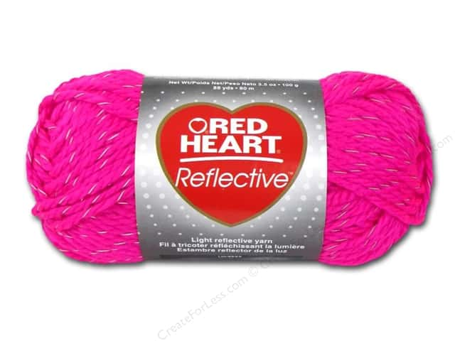 Knitting Patterns For Red Heart Reflective Yarn : Red Heart Reflective Yarn #8704 Neon Pink 88 yd ...