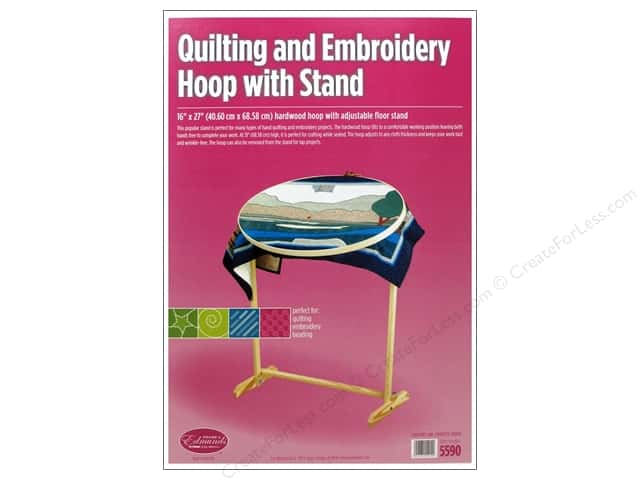 F a edmunds quilting embroidery hoop with stand