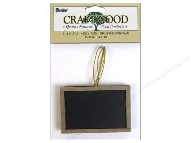 Darice Chalkboard with Wood Frame 2 x 3 in. 3 pc. -- CreateForLess