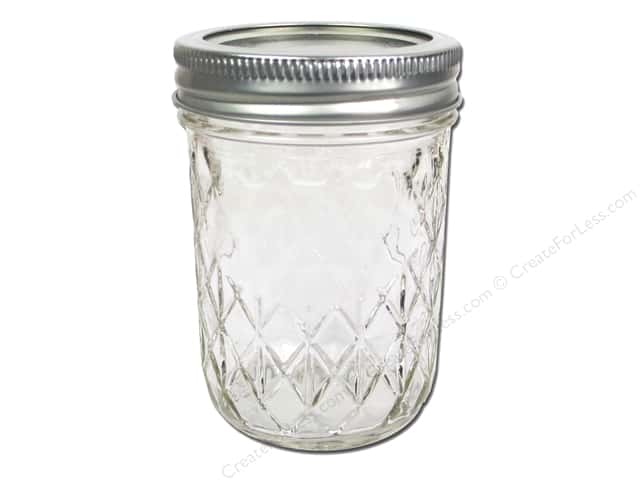 Ball Mason Jars 8 Oz Half Pint Regular Mouth Quilted