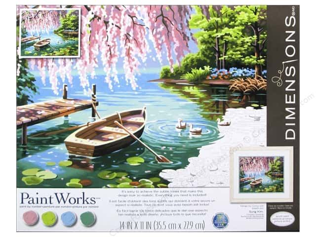 Paintworks Paint By Number Kit 14 X 11 In Willow Beauty