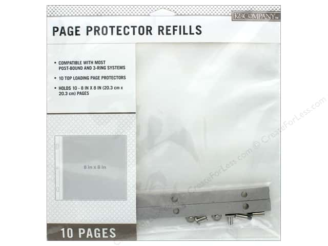 K Company 8 X 8 In Page Protector Refills 10 Pc Createforless