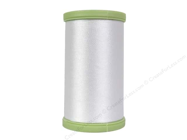 Coats Trilobal Polyester Embroidery Thread 600 Yd White