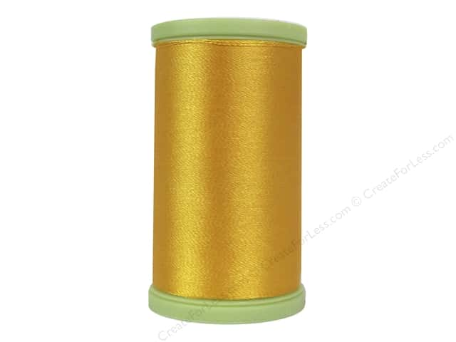 Coats Trilobal Polyester Embroidery Thread 600 Yd Spark Gold