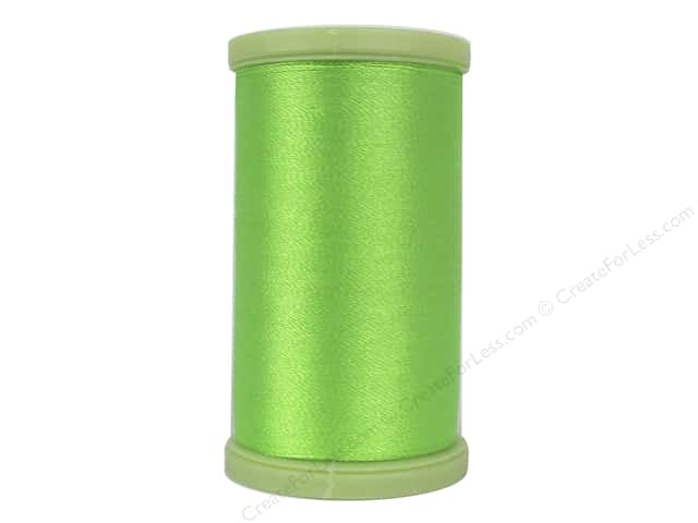 Coats Trilobal Polyester Embroidery Thread 600 Yd Neon Green