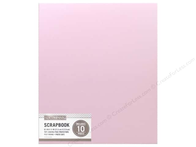 K Company 8 12 X 11 In Scrapbook Album Faux Leather Pink