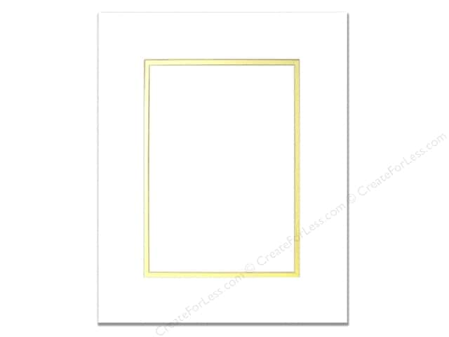 Pre Cut Double Photo Mat Board White Core 8 X 10 In Whitegold