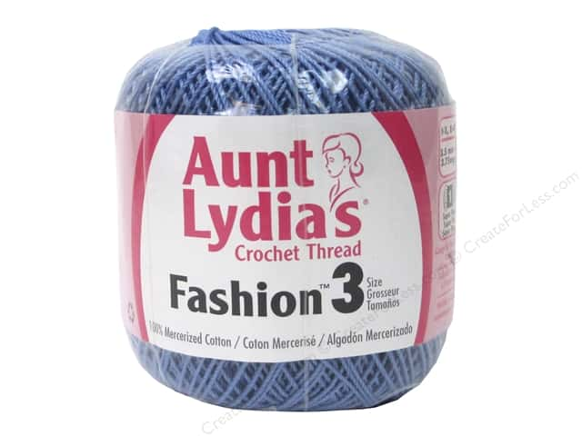 Aunt Lydias Fashion Crochet Thread Size 3 150 Yd Warm Blue