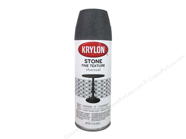 Krylon Natural Stone Paint 12 oz Charcoal CreateForLess
