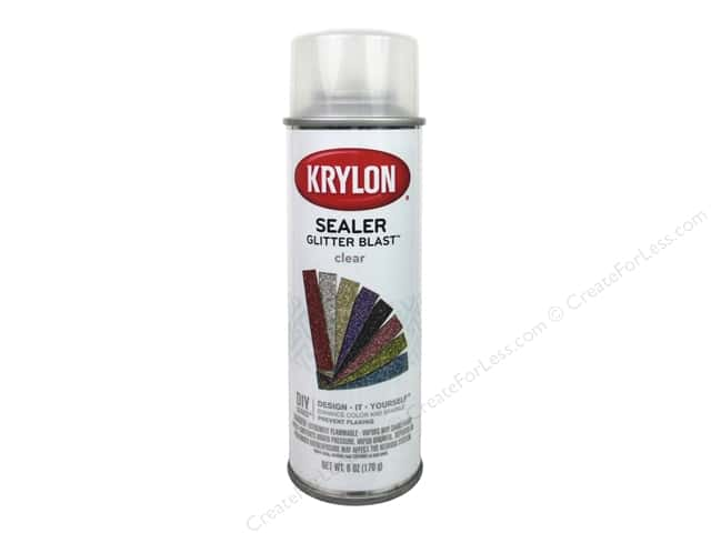 krylon glitter blast spray paint 6 oz clear sealer createforless