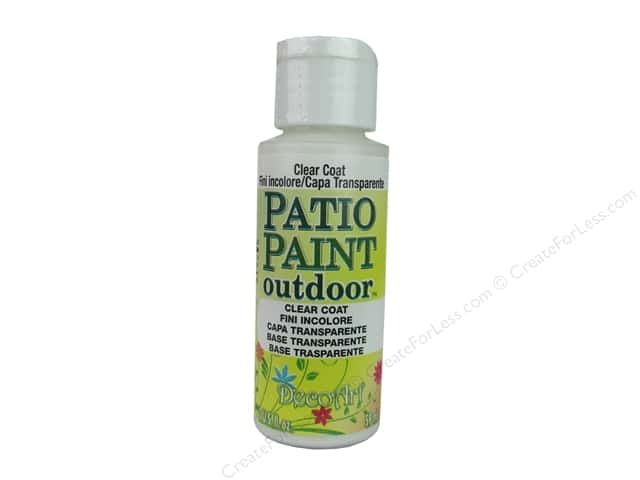DecoArt Patio Paint Outdoor Acrylic Paint 2 Oz. #24 Clear Coat
