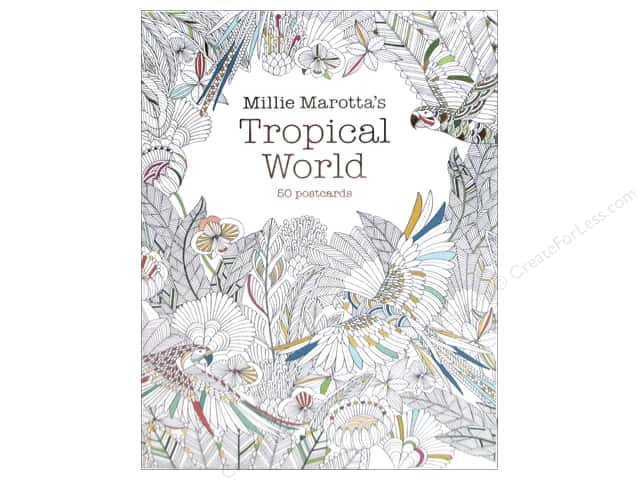 lark millie marottas tropical world coloring postcards