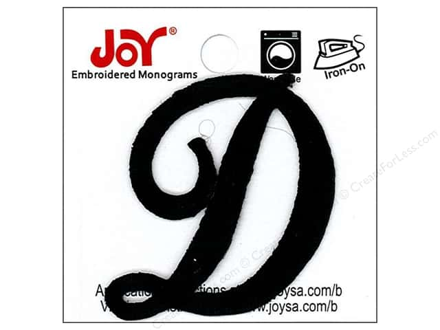 iron on embroidered letter 1 1 2 in script d black createforless