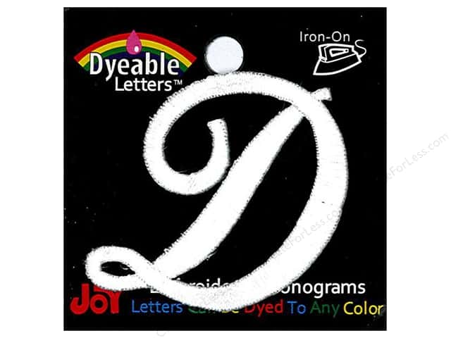 iron on embroidered letter 1 1 2 in script d dyeable createforless