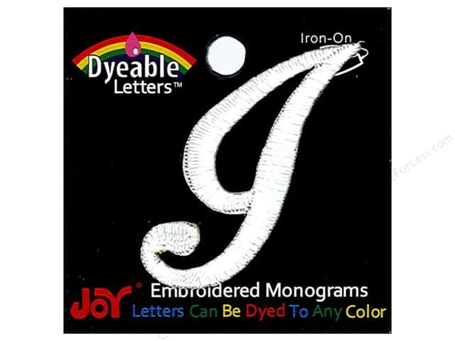 Joy Lettershop Iron-On Embroidered Letter 1 1/2 in. Script