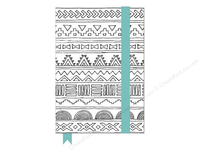 American Crafts Adult Coloring Notebook With Elastic Band Hall Pass Tribal
