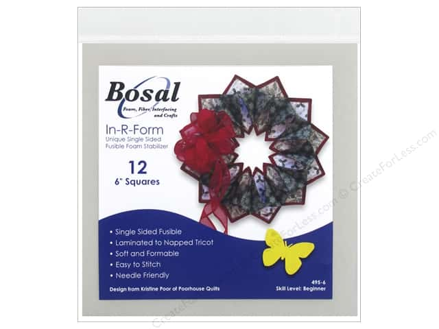 Bosal In-R-Form Interfacing Shape 6 in. Square 12 pc. -- CreateForLess