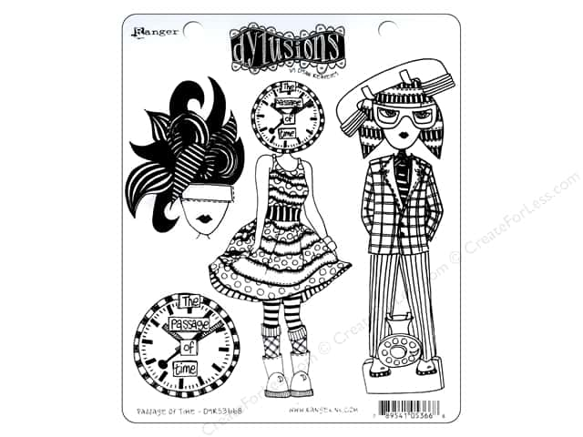 Image result for dylusions stamp time clock