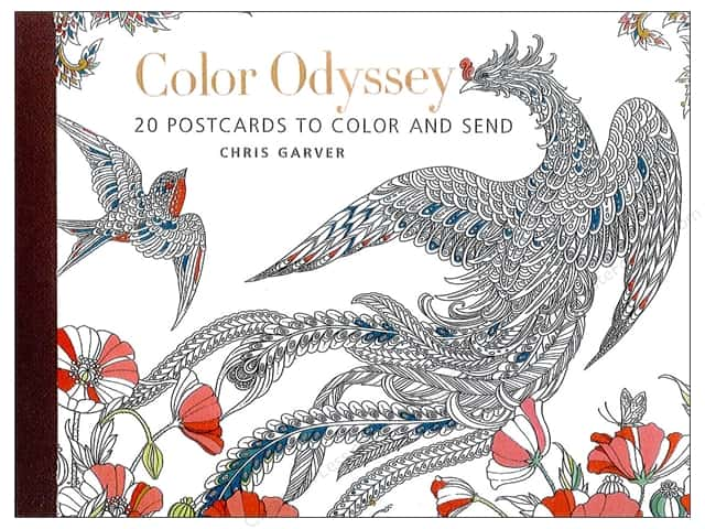 get creative 6 color odyssey postcards 20 pc