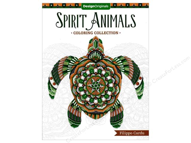 Design Originals Spirit Animals Coloring Book