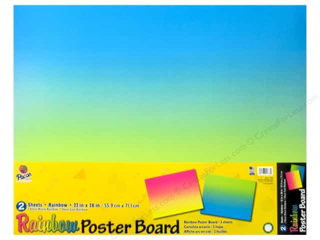 Pacon Poster Board Rainbow 22x 28 2pc Ombre 24 Pieces