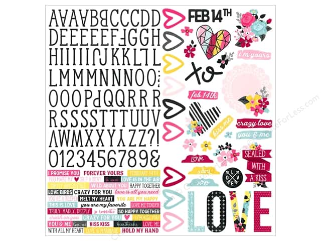 Simple stories collection love adore sticker combo 12pc 12 sets