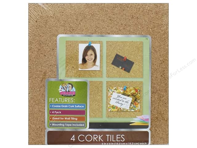 The Board Dudes Cork Tile 6 X 3 16 In 4 Pc