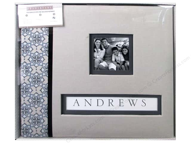 K & Company 12 x 12 in. Scrapbook Frame A Name Album Gray Floral ...