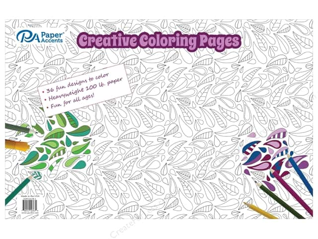 Paper Accents Creative Coloring Pages 11 X 17 In 36 Pc