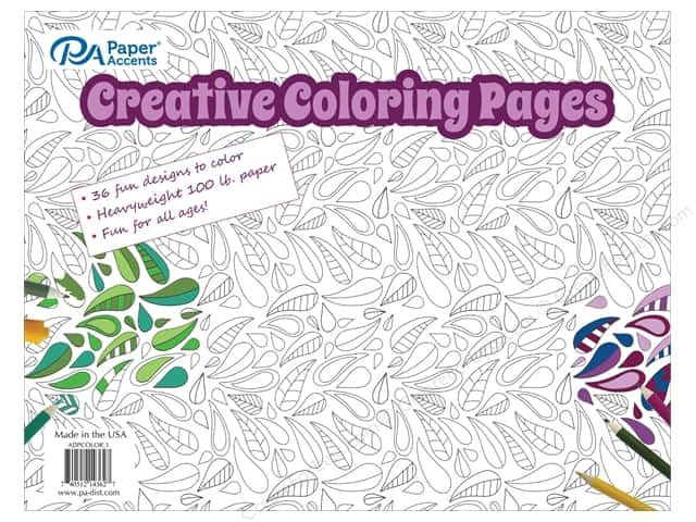 Paper Accents Creative Coloring Pages 8 1 2 X 11 In 36 Pc