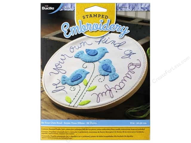 Bucilla Stamped Embroidery Kit Be Your Own Kind Createforless