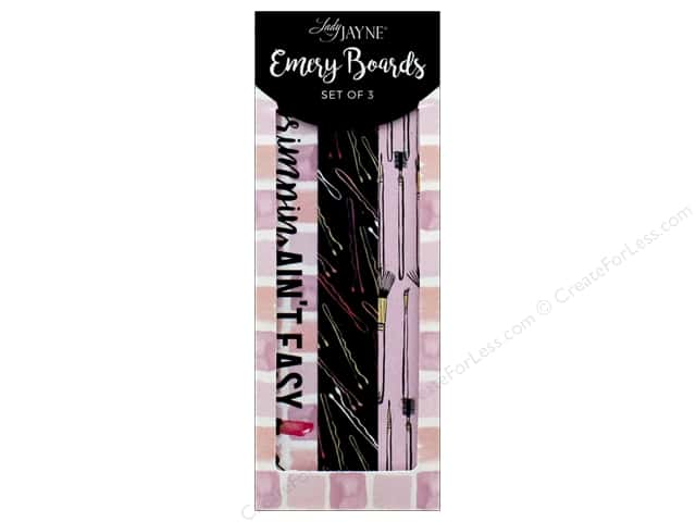 Lady Jayne Nail File Emery Board Make Up S/3 -- CreateForLess