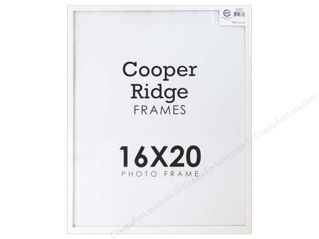SPC Frame Wood With Hangers 16x20 White -- CreateForLess