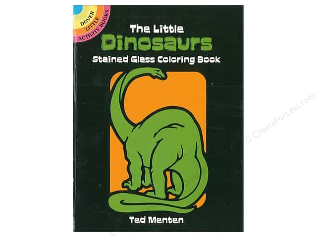 Little Dinosaurs Stained Glass Coloring Book -- CreateForLess