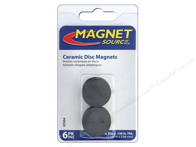 the magnet source ceramic disc magnets 1 in 6 pc createforless