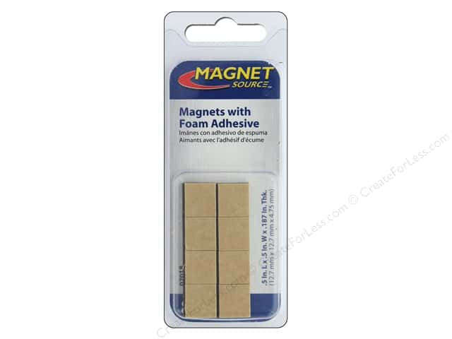 high energy adhesive magnets 1 2 in square 8 pc createforless