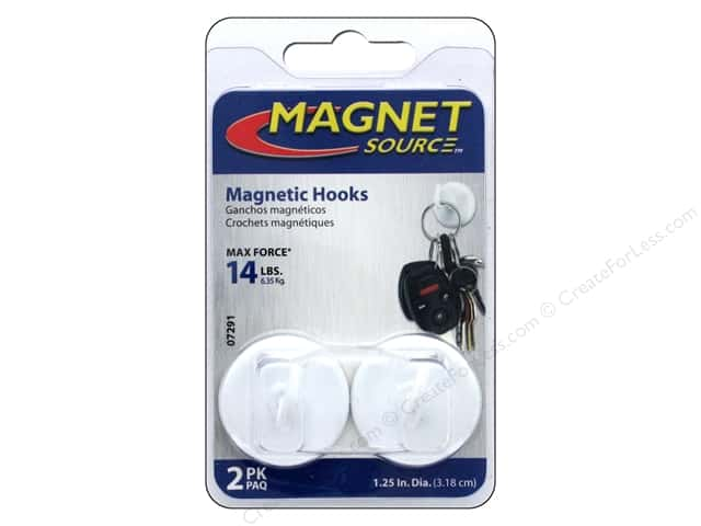 the magnet source magnet hooks 1 1 4 in 2 pc white createforless