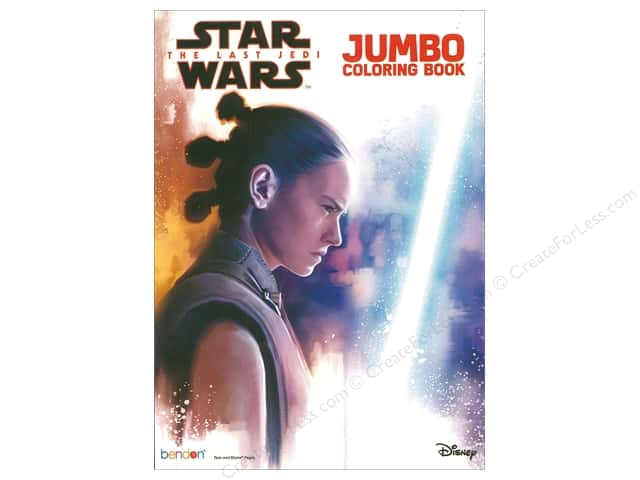 Bendon Books Jumbo Coloring Book StarWars LastJedi -- CreateForLess