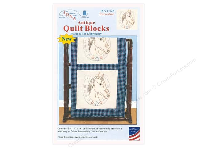 Jack Dempsey Quilt Block 18 6pc Antique Horseshoe Createforless